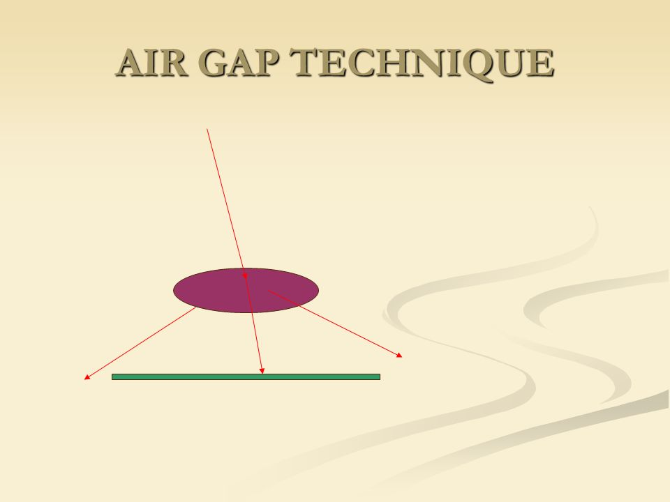 AIR GAP TECHNIQUE