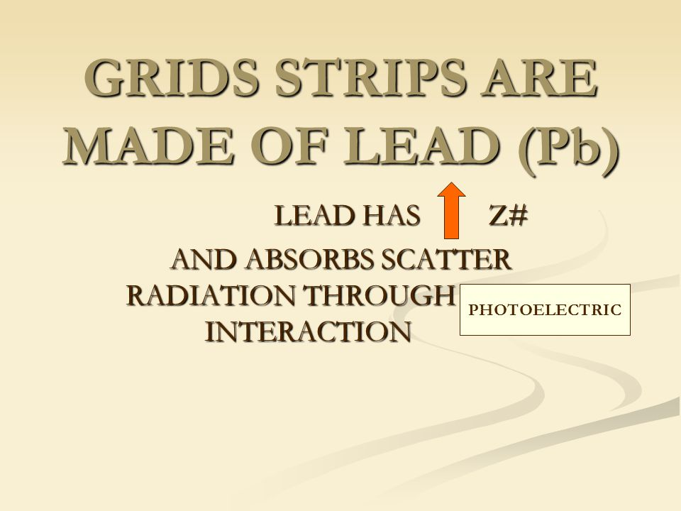 GRIDS STRIPS ARE MADE OF LEAD (Pb)