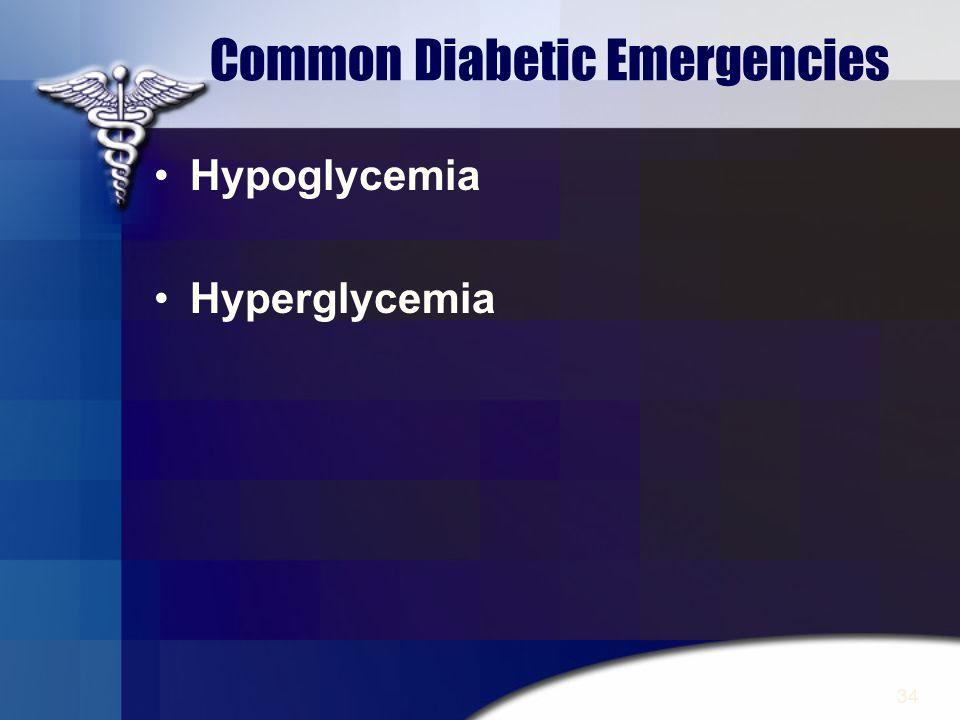 Common Diabetic Emergencies