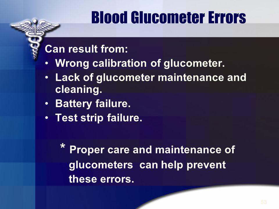 Blood Glucometer Errors