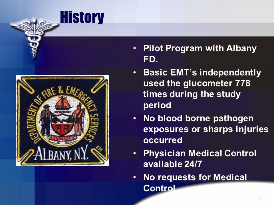 History Pilot Program with Albany FD.