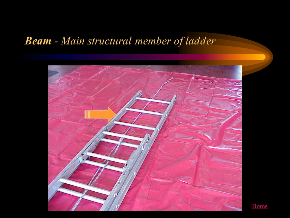 Beam - Main structural member of ladder