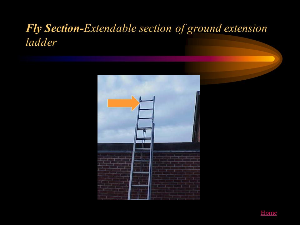 Fly Section-Extendable section of ground extension ladder