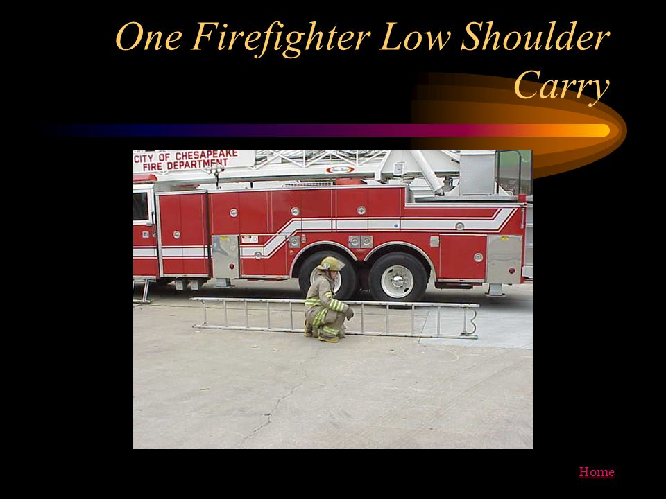 One Firefighter Low Shoulder Carry