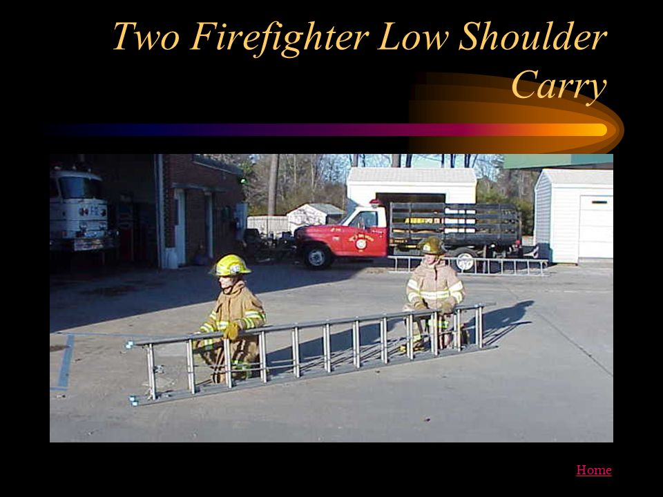 Two Firefighter Low Shoulder Carry
