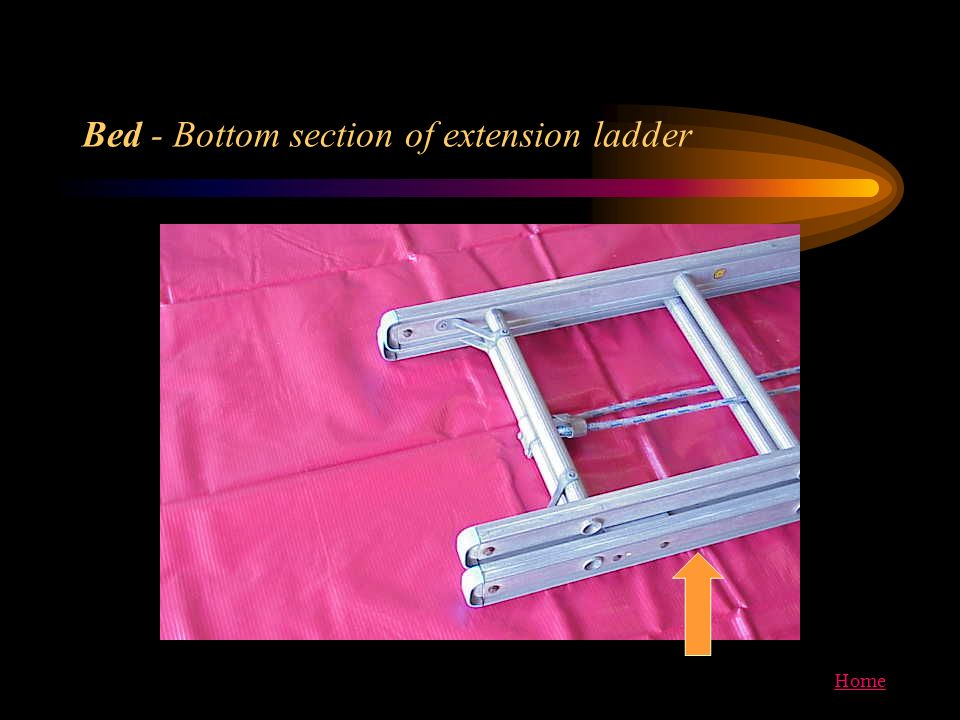 Bed - Bottom section of extension ladder