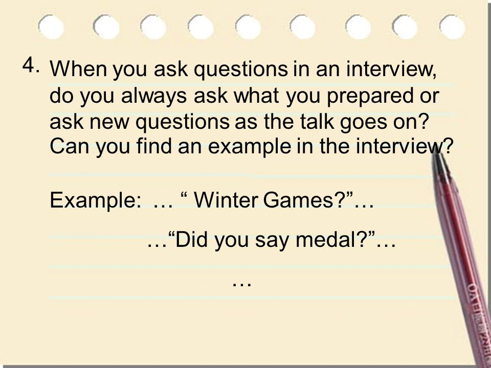 Can you find an example in the interview