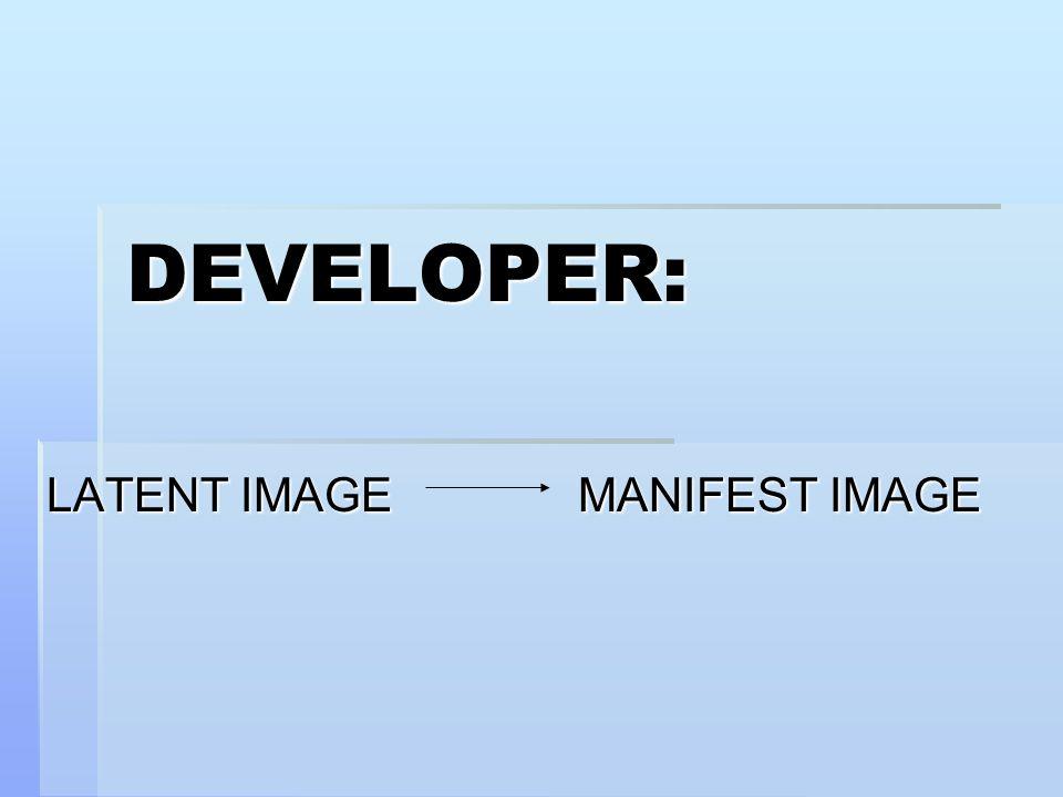 LATENT IMAGE MANIFEST IMAGE