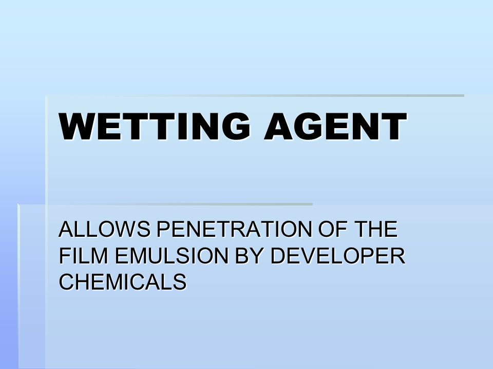 ALLOWS PENETRATION OF THE FILM EMULSION BY DEVELOPER CHEMICALS