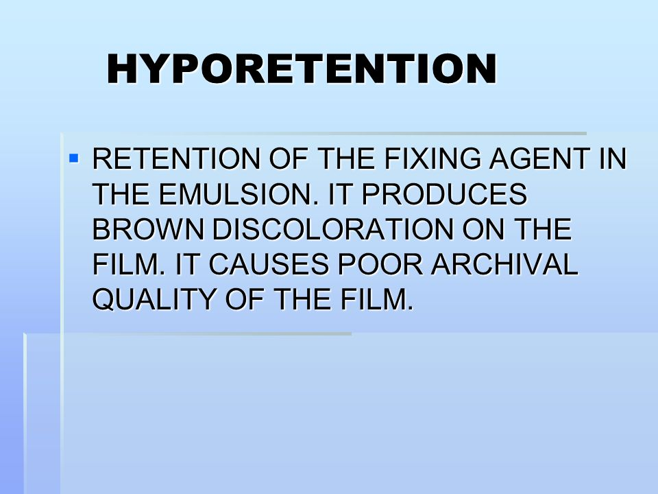 HYPORETENTION