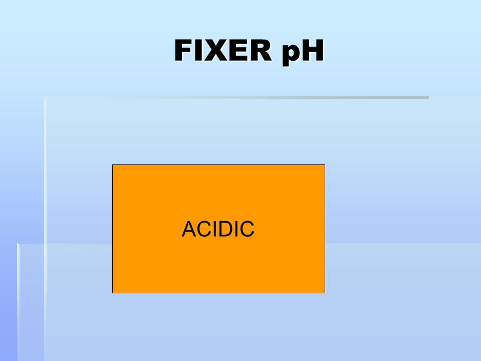 FIXER pH ACIDIC