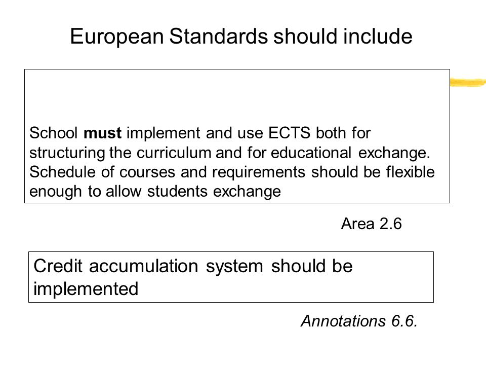 European Standards should include