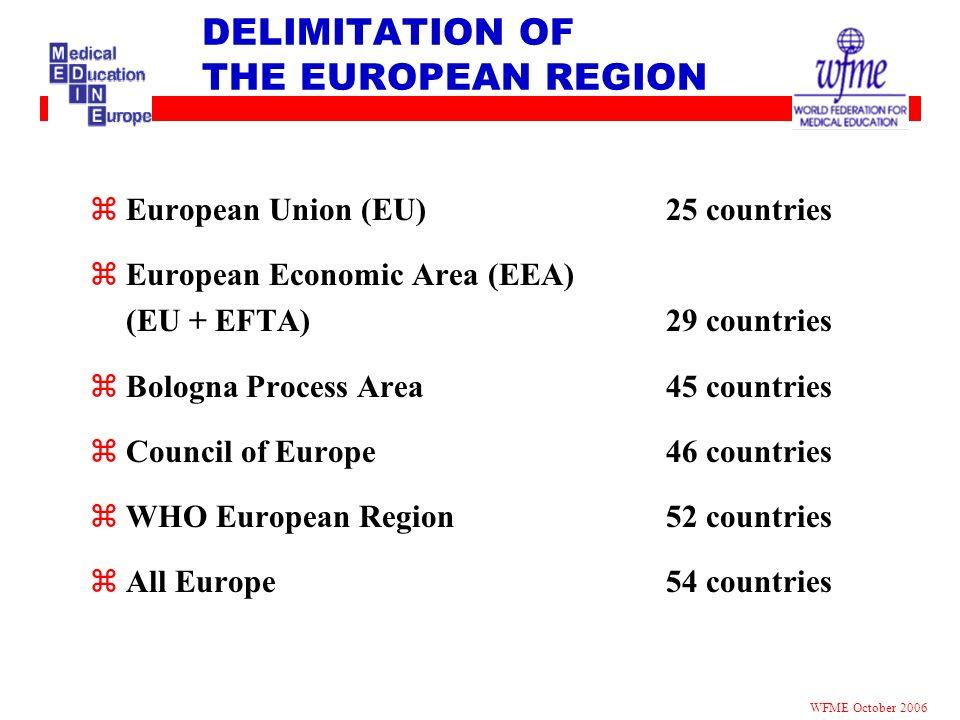 DELIMITATION OF THE EUROPEAN REGION