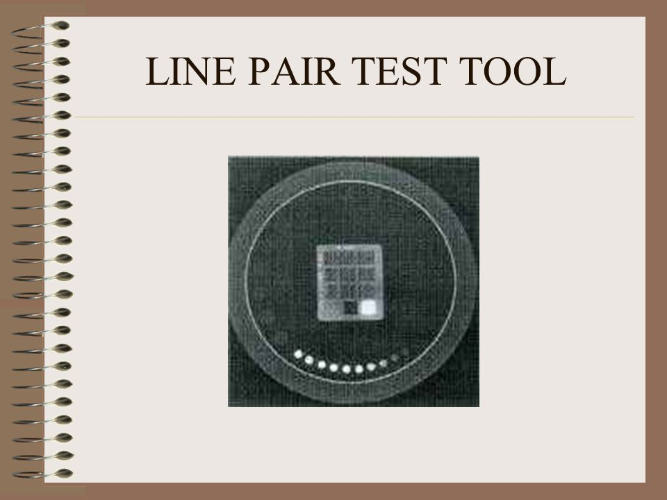LINE PAIR TEST TOOL