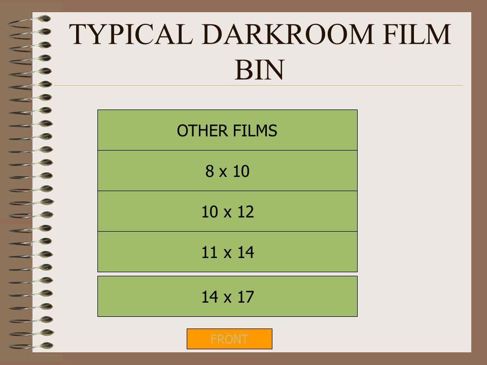 TYPICAL DARKROOM FILM BIN