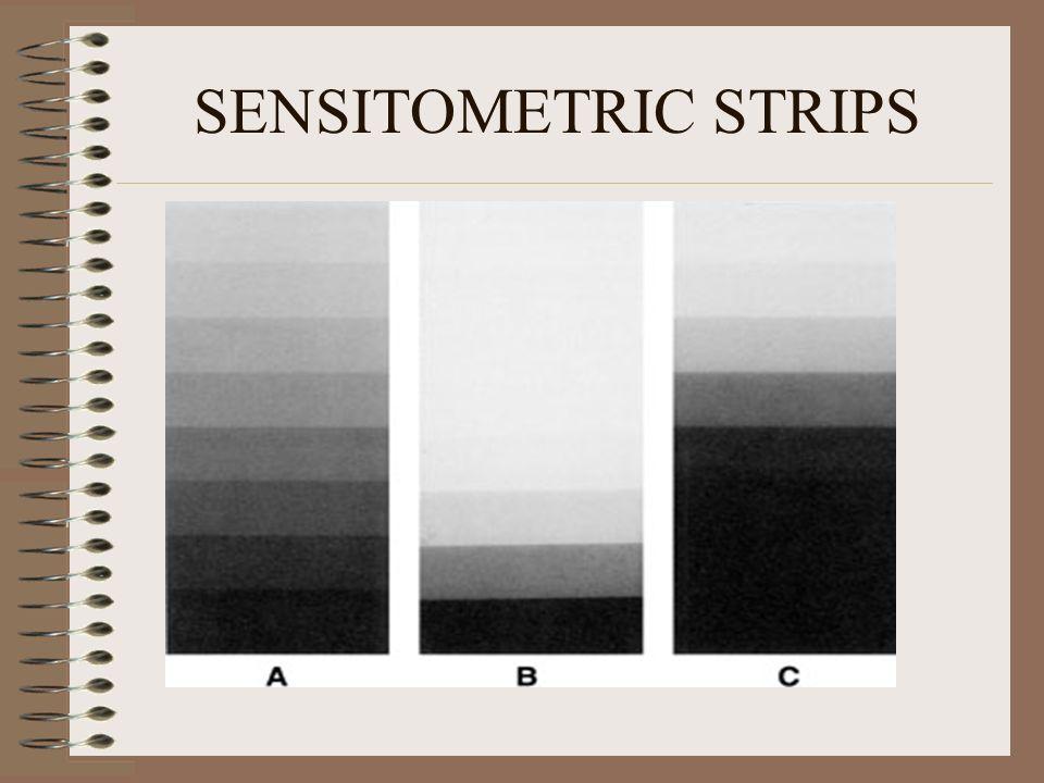 SENSITOMETRIC STRIPS