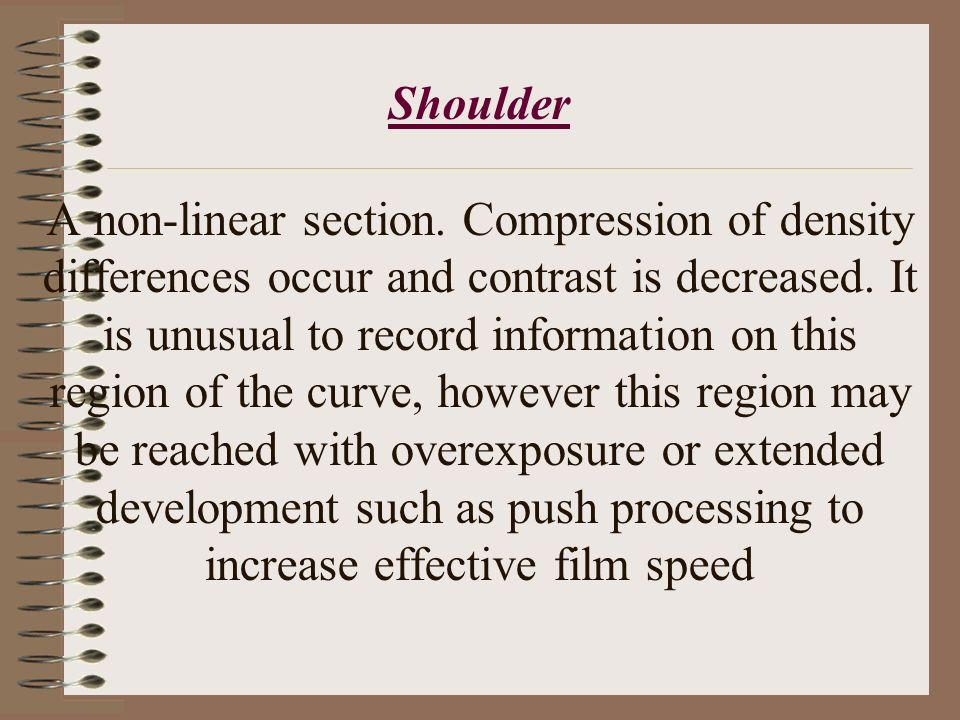 Shoulder A non-linear section