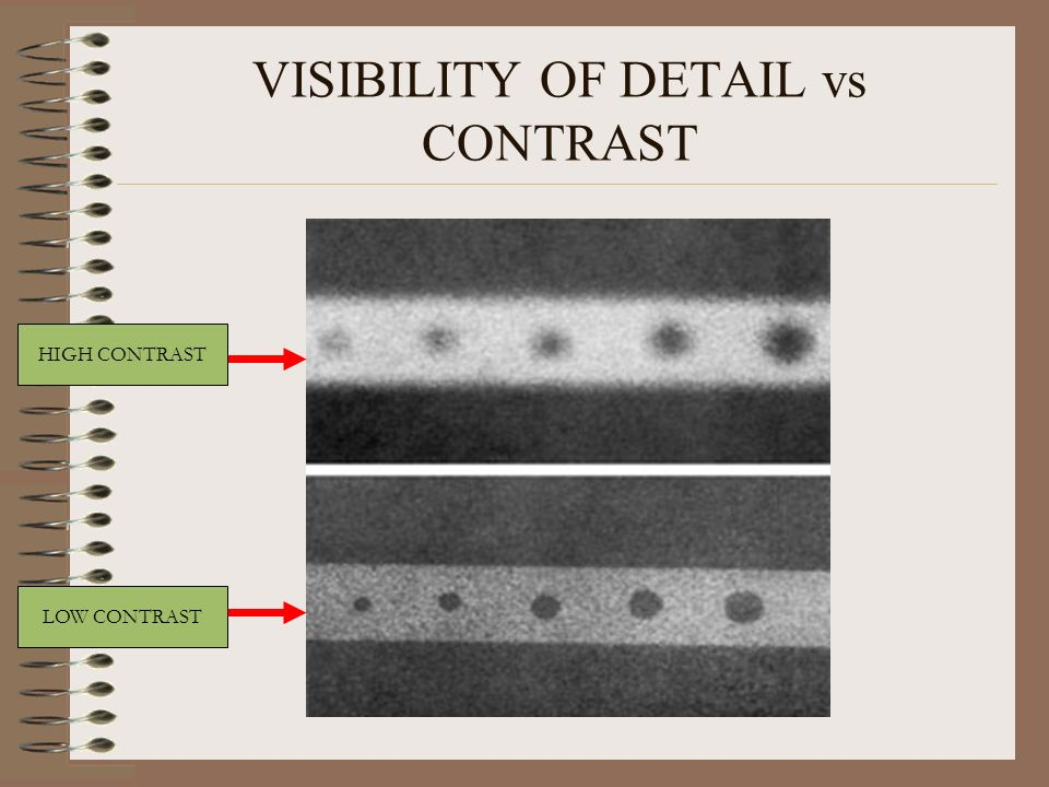 VISIBILITY OF DETAIL vs CONTRAST