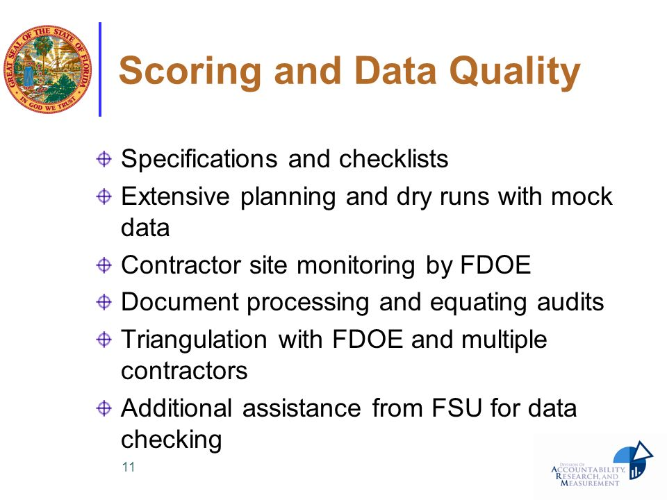 Scoring and Data Quality