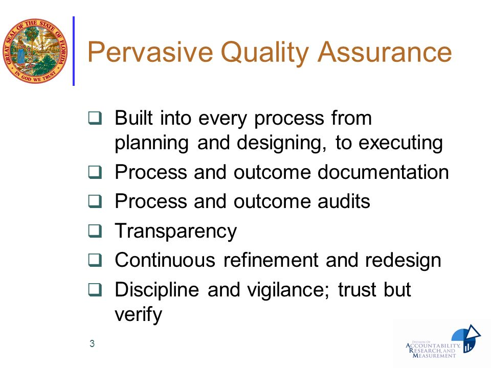 Pervasive Quality Assurance