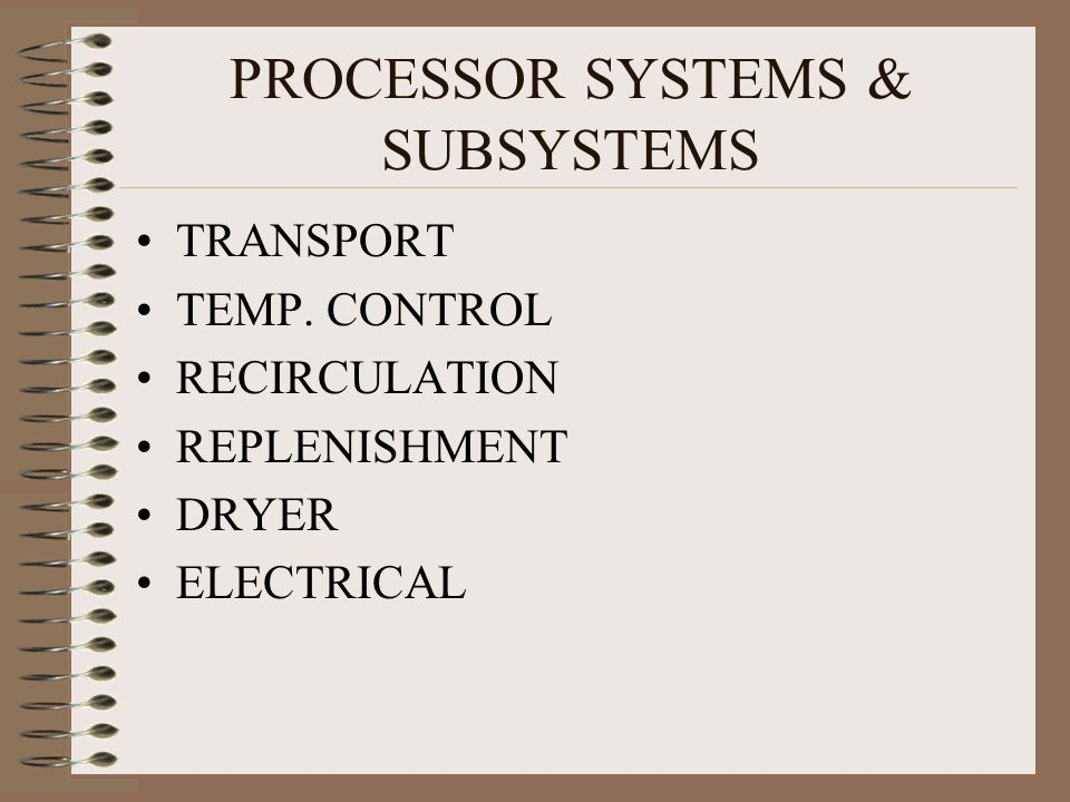 PROCESSOR SYSTEMS & SUBSYSTEMS