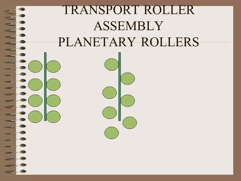 TRANSPORT ROLLER ASSEMBLY PLANETARY ROLLERS