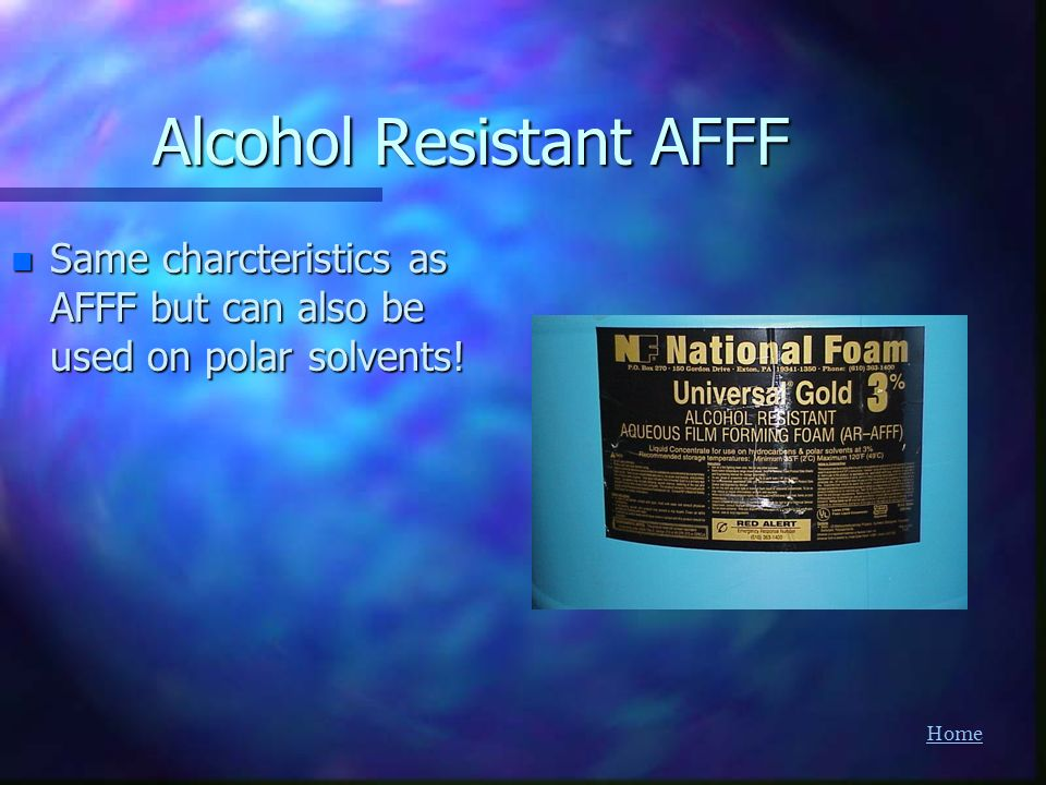 Alcohol Resistant AFFF