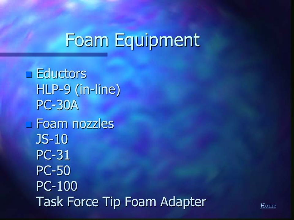 Foam Equipment Eductors HLP-9 (in-line) PC-30A
