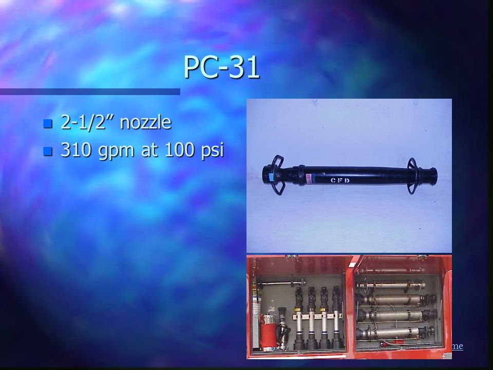 PC /2 nozzle 310 gpm at 100 psi