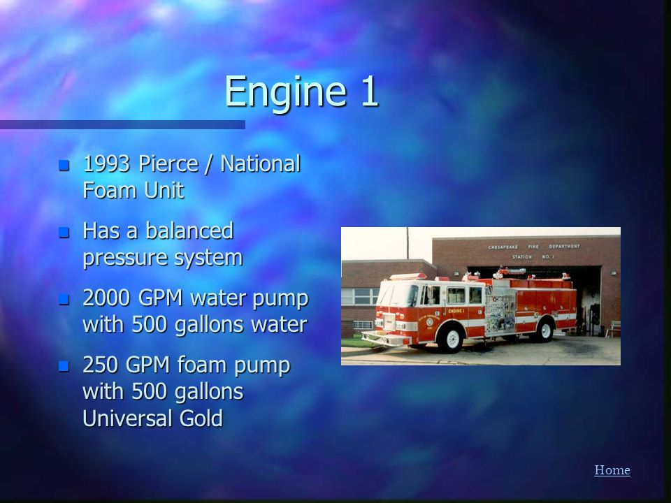 Engine Pierce / National Foam Unit