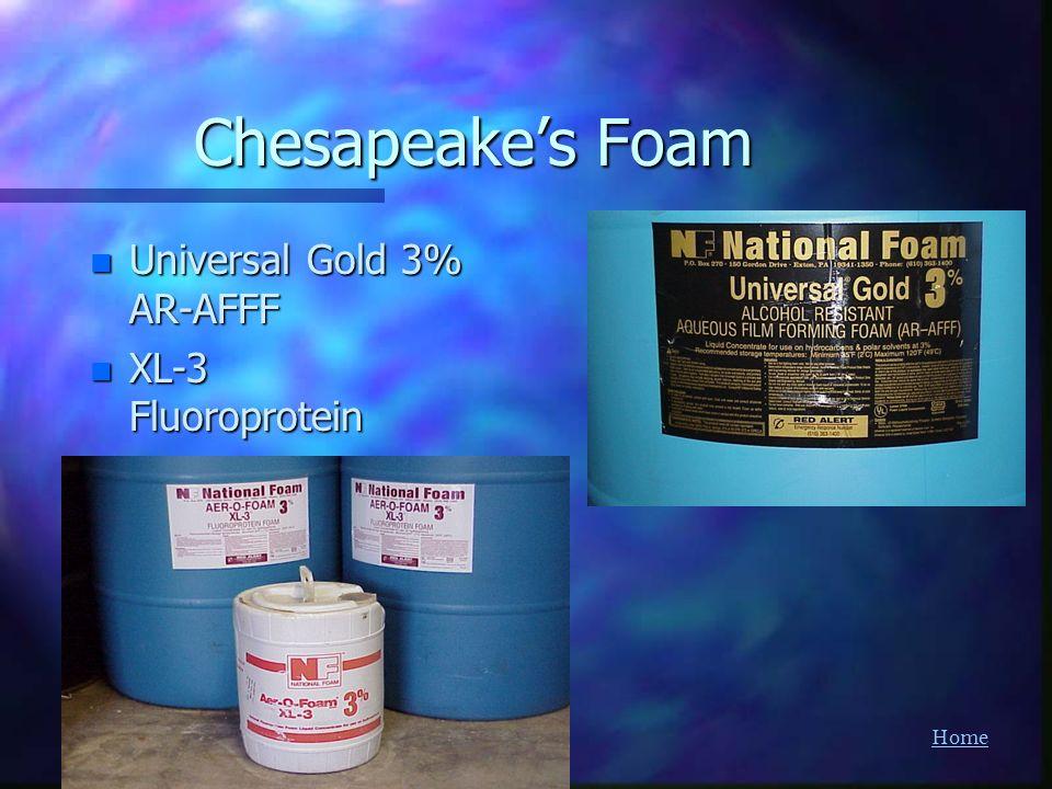 Chesapeake's Foam Universal Gold 3% AR-AFFF XL-3 Fluoroprotein