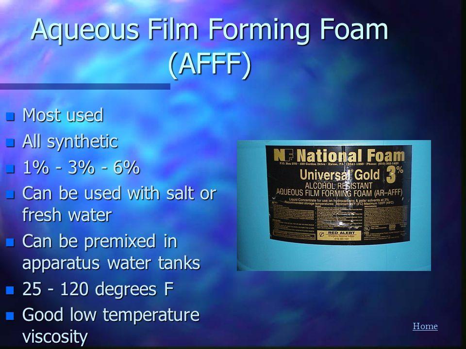 Aqueous Film Forming Foam (AFFF)