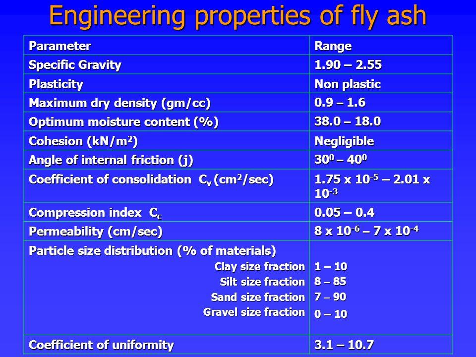 Engineering properties of fly ash