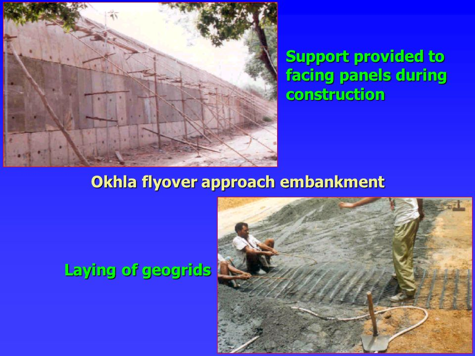Okhla flyover approach embankment