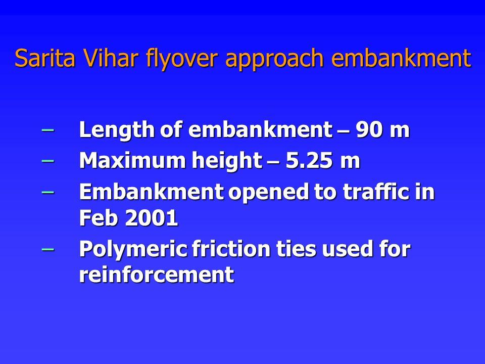 Sarita Vihar flyover approach embankment