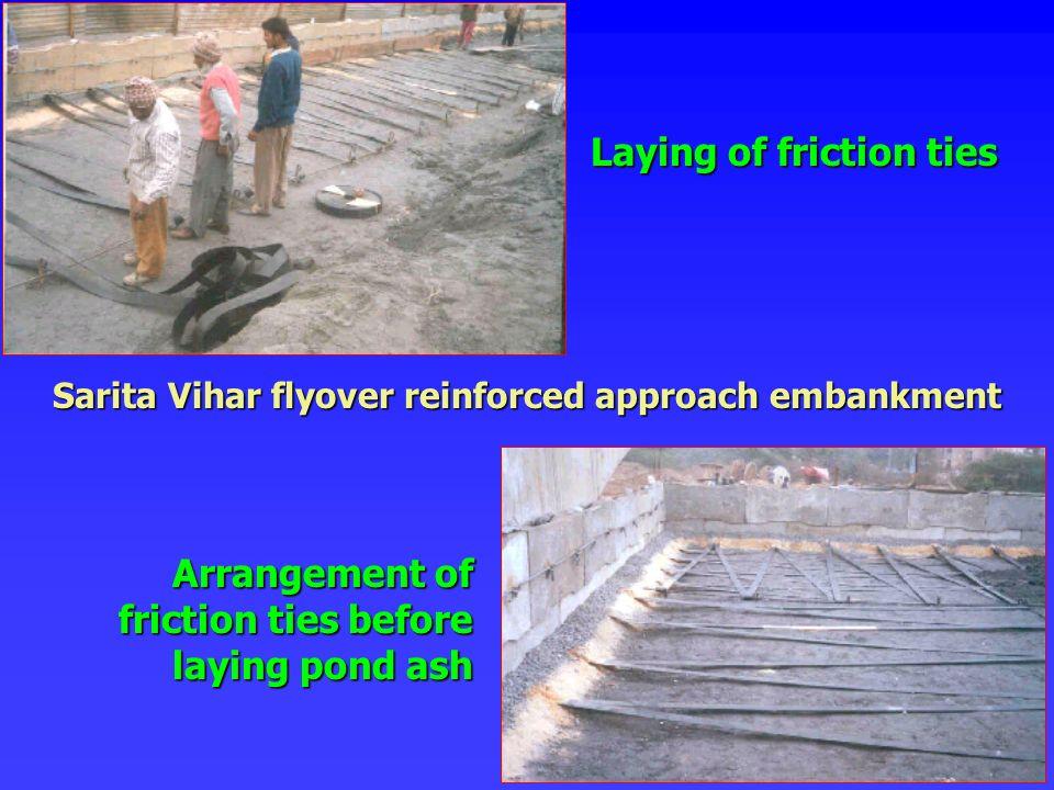 Sarita Vihar flyover reinforced approach embankment
