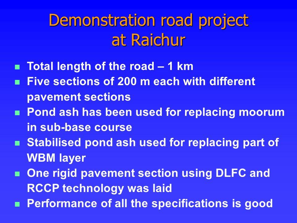 Demonstration road project at Raichur