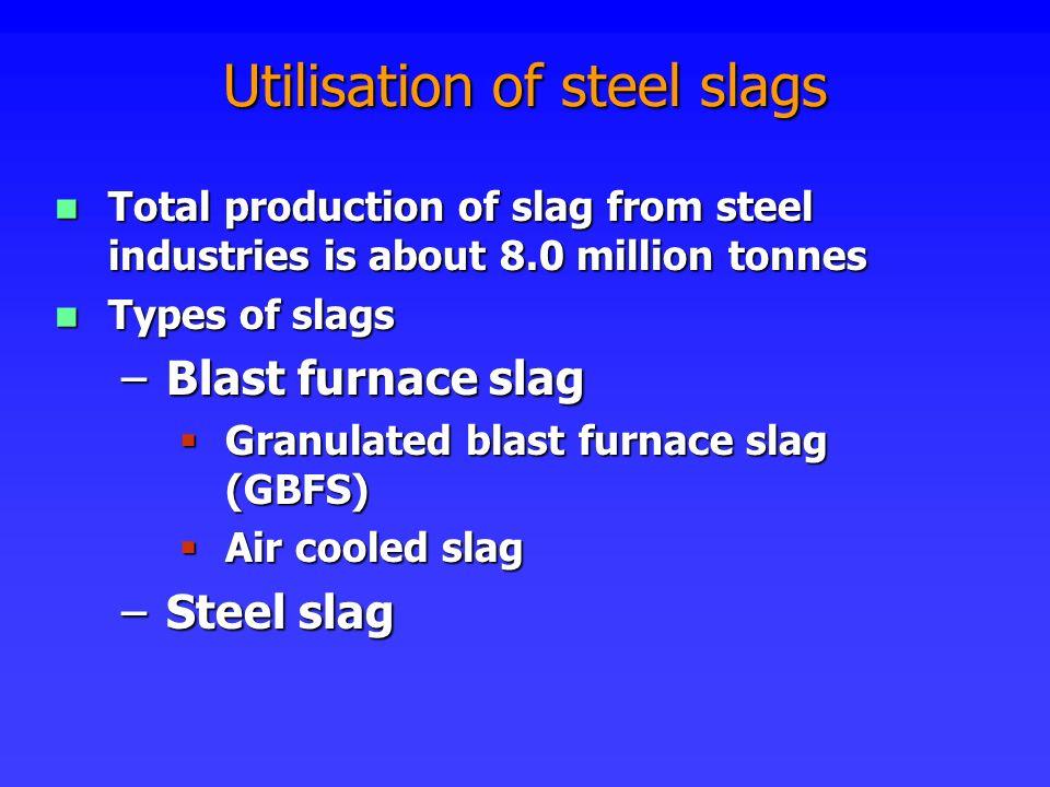 Utilisation of steel slags