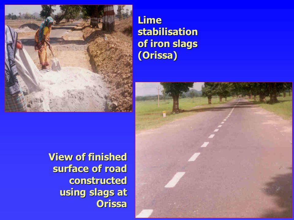 Lime stabilisation of iron slags (Orissa)