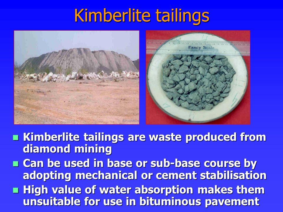 Kimberlite tailings Kimberlite tailings are waste produced from diamond mining.
