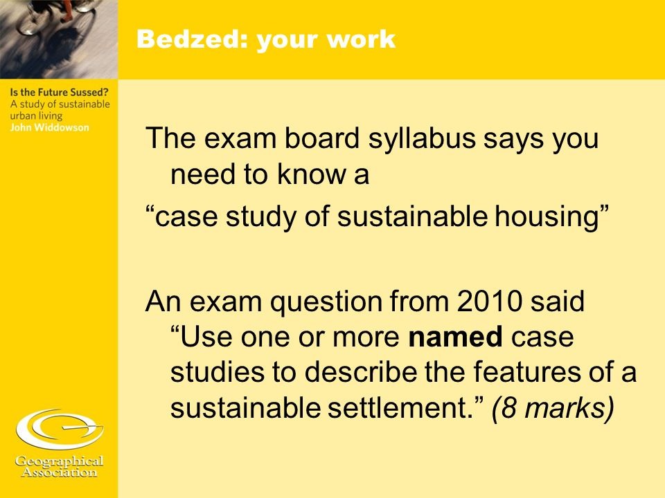 The exam board syllabus says you need to know a