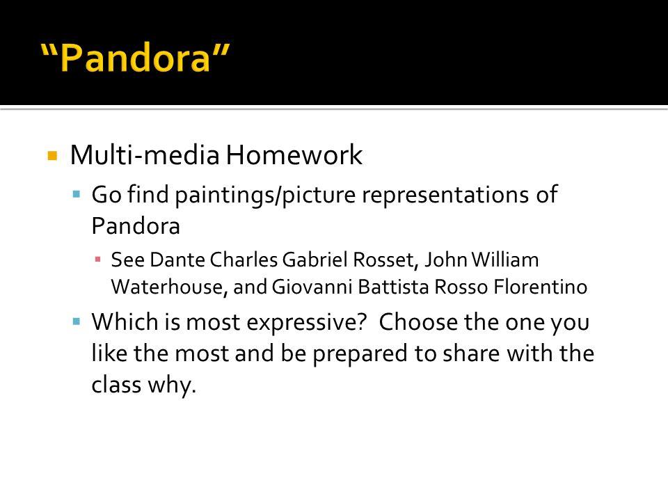 Pandora Multi-media Homework