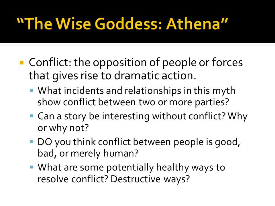 The Wise Goddess: Athena