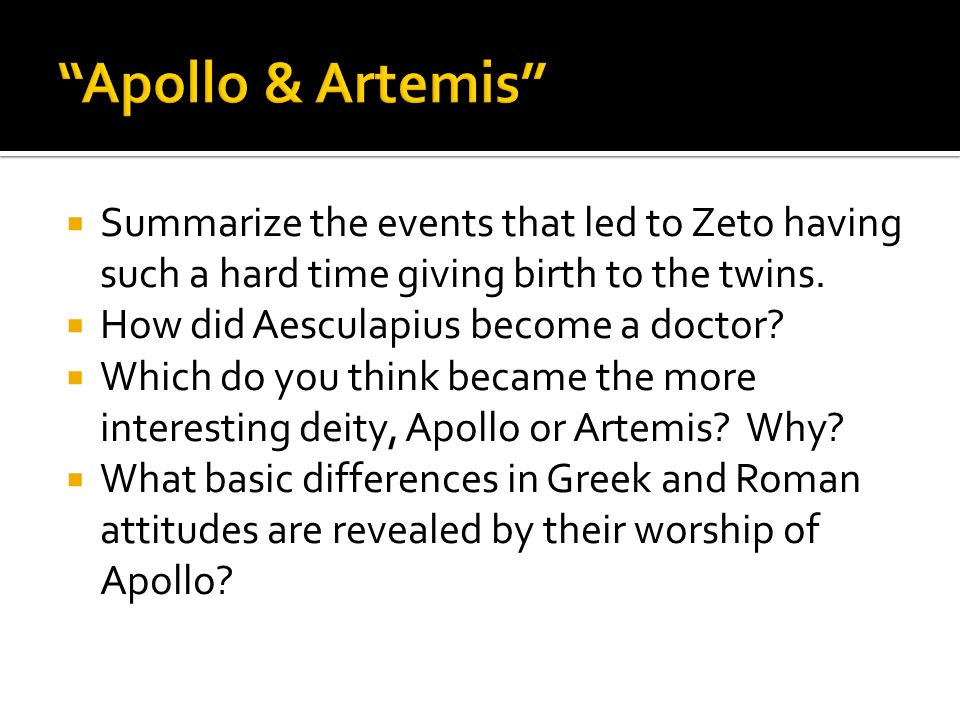 Apollo & Artemis Summarize the events that led to Zeto having such a hard time giving birth to the twins.