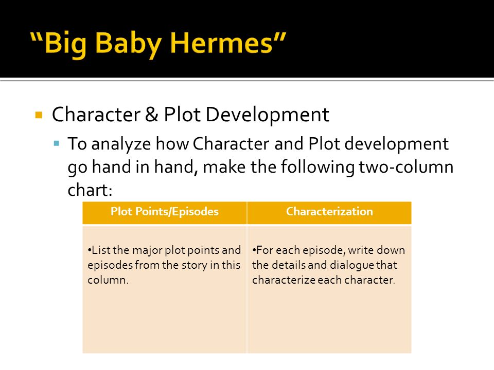 Big Baby Hermes Character & Plot Development