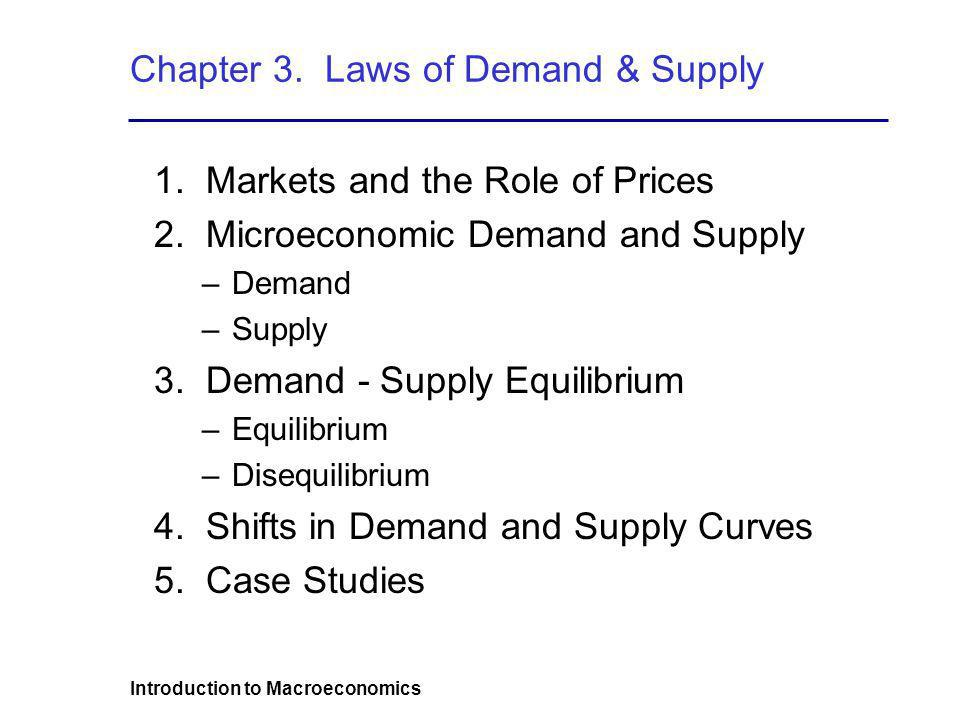 Chapter 3. Laws of Demand & Supply