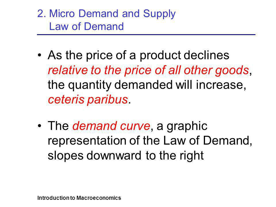 2. Micro Demand and Supply Law of Demand