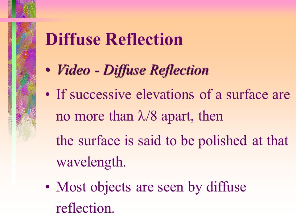 Diffuse Reflection Video - Diffuse Reflection