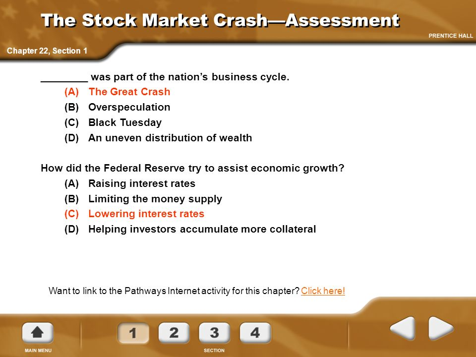 The Stock Market Crash—Assessment