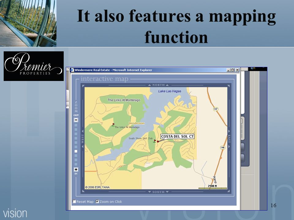 It also features a mapping function